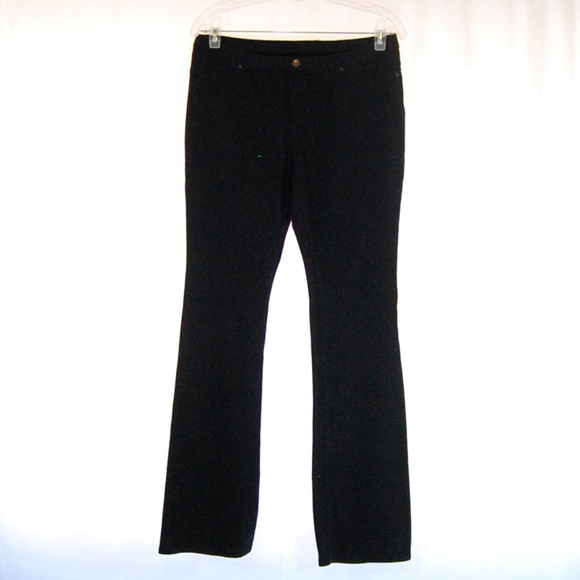 803c9f275dd2a HUE Pants | Black Bootcut Leggings | Poshmark